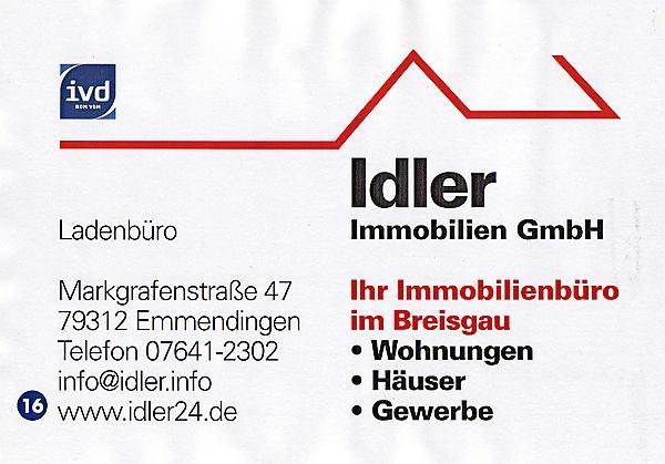 Immobilienvermittlung – Wohnungen, Häuser, Gewerbe >> Markgrafenstraße 47, 79312 Emmendingen, Tel: 07641/2302