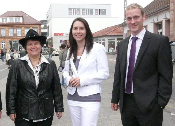 Von links: Bärbel Schwörer (Schriftführerin), Constanze Kammel (2. Vorsitzende), Marcel Jundt (1. Vorsitzender)