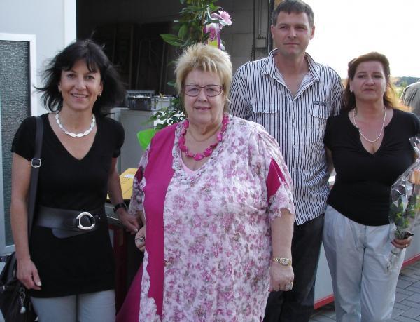Von links: Die Wirtschaftsfördererin der Stadt Emmendingen, Petra Mörder, Gewerbevereinsvorsitzende Christl Gräber, Gastgeber Jörg Ziebold und Gudrun Weh
