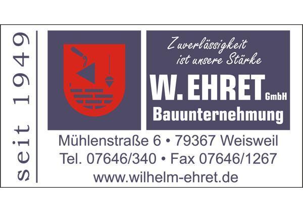 Bauinnung: [rt=512,6277]Wilhelm Ehret GmbH Bauunternehmung[/rt] Mühlenstraße 6 79367 Weisweil