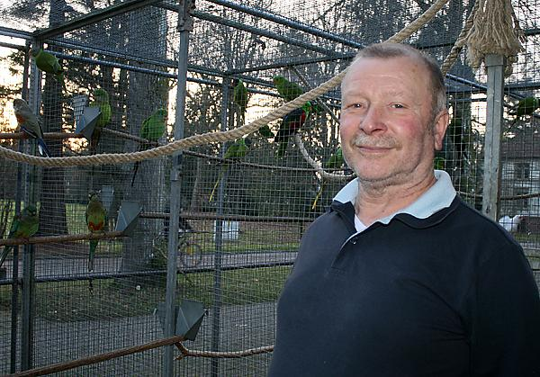 Otto Kölblin-Bühler im Vogelgehege