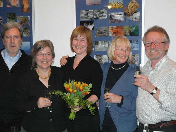 Freude nach der Nominierung (von links): Fraktionsvorsitzender Oskar Kreuz, Vorstandsmitglied Ingrid Tegeler, OB-Kandidatin Susanne Wienecke, Stadträtin Ute Haarer-Jenne und Kreisvorstandsmitglied Franz Ruetz