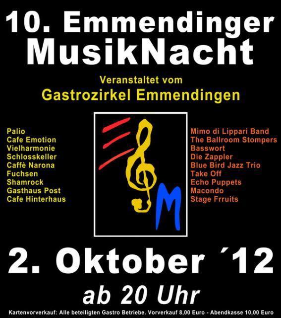 Emmendingen 2 oktober 2012 10 emmendinger musiknacht for Emmendingen industrie