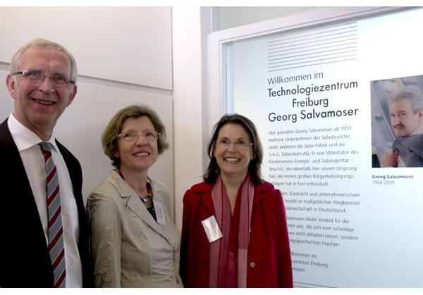 Von links: Bernd Dallmann, Gerda Stuchlik, Maria Salvamoser