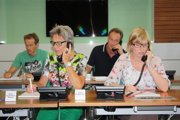 Expertenfoto v.l.n.r.: Timo Bracht, Birgit Leuchtmann-Wagner, Dr. Jürgen Siebenhünen, Sarah Wingensiefen_Foto Birgit Fink