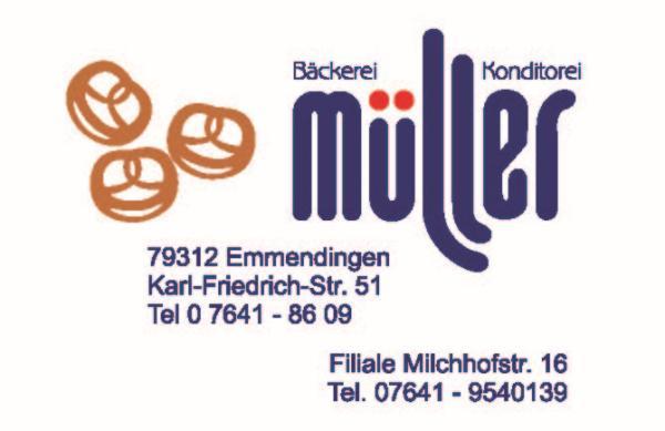 Bäckerei Müller | Karl-Friedrich-Str. 51, 79312 Emmendingen, Tel. 07641/8609