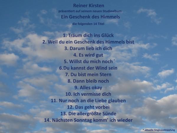 Elzach Reiner Kirsten Präsentiert Sein Neues Studioalbum
