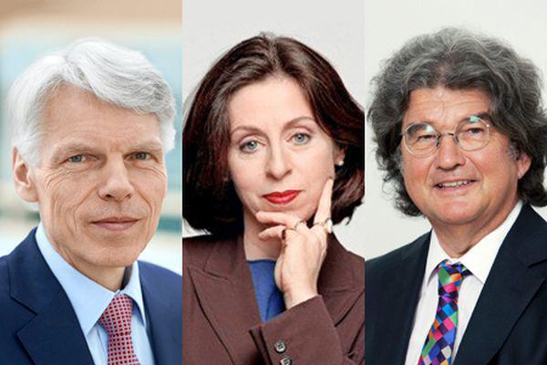 Führende Persönlichkeiten im neuen Universitätsrat  Andreas Barner: Boehringer Ingelheim GmbH Sabine Rollberg: privat Alfred Ritter: Alfred Ritter GmbH & Co. KG (von links nach rechts)