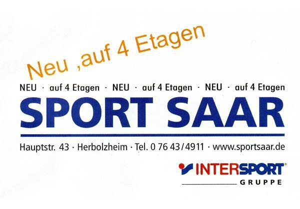 K. Saar, Schuh und Sporthaus eK Hauptstraße 43, 79336 Herbolzheim, Tel. 07643 / 4911