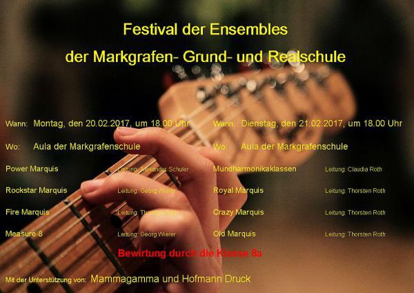 20./21. Februar: Festival der Ensembles - Zwei Veranstaltungen in der Aula der Markgrafenschule  Foto: Markgrafen-Grund- und Realschule Emmendingen