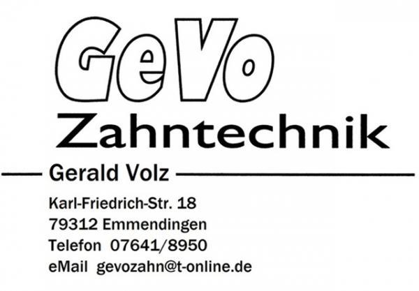 GeVo Zahntechnik, Karl-Friedrich-Straße 13, 79312  Emmendingen, Tel.  07641/8950, gevozahn@t-online.de