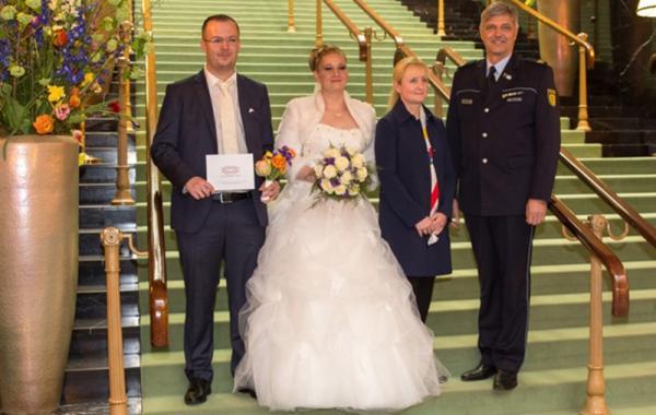 Von links: Ehepaar Keneski, Frau Knospe, Bundesfinanzministerium, Herr Renter, Polizeipräsidium Offenburg
