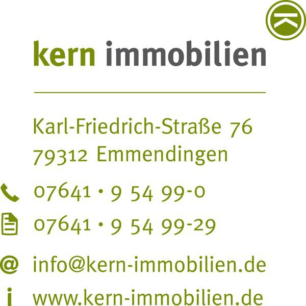 Kern Immobilien, Am Stadtgarten 1, 79312 Emmendingen, Tel. 7641/95499-0, Fax 07641/95499-29, info@kern-immobilien.de, www.kern-immobilien.de