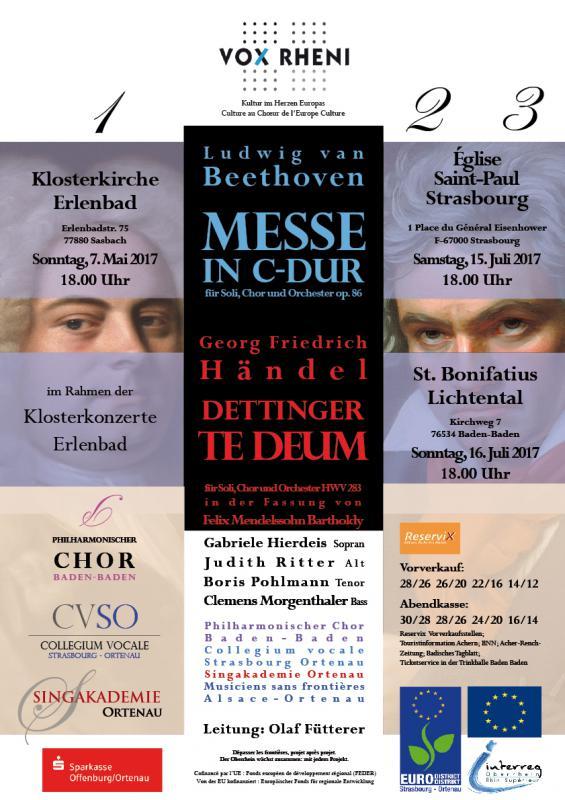 Konzerte der Singakademie Ortenau mit zwei weiteren Chören im Mai und Juli 2017