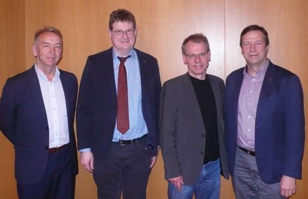 Von links: Norbert Großklaus, Andreas Schwarz,Markus Kurth und Thomas  Marwein