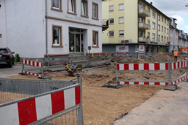 Baustelle Karl-Friedrich-Straße Emmendingen (7. Juni)