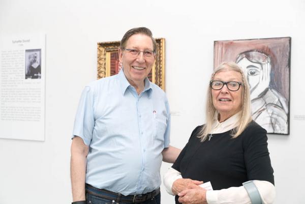 Kunst in der Regio: Picasso in Riegel! - Jürgen A. Messmer zusammen mit Sylvette David (heute Lydia Corbett), einer der drei noch lebenden Musen Picassos.