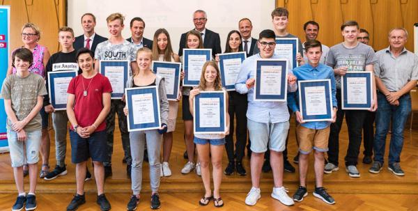 """Preisverleihung """"Chance Cup 2017"""" in der Handwerkskammer Freiburg - Alle Preisträger der Region Freiburg."""
