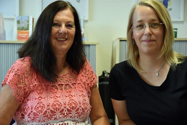 Urlaub mal anders. Agnes Bihrer (links) und Kerstin Niermann.  Foto: Siefke.