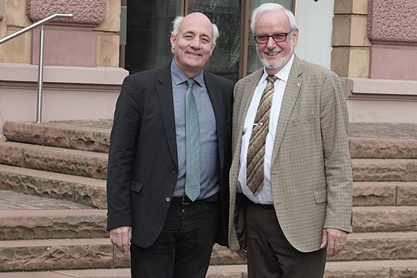 Landtagsabgeordneter Alexander Schoch (links) und Ernst Schilling.