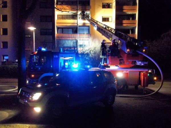 Mehrere Einsätze an Silvester  Balkonbrand