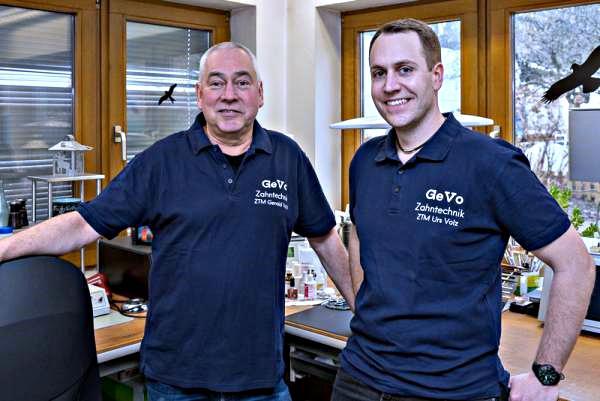 Gerald und Urs Volz (rechts)  GeVo Zahntechnik, Karl-Friedrich-Straße 13, 79312  Emmendingen, Tel.  07641/8950, gevozahn@t-online.de