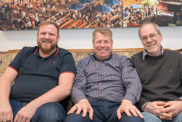 ZMF Line-Up fast komplett - Von links: Alexander Hässler (Programm), Geschäftsführer Marc Oßwald, Dieter Pfaff (Technische Koordination).