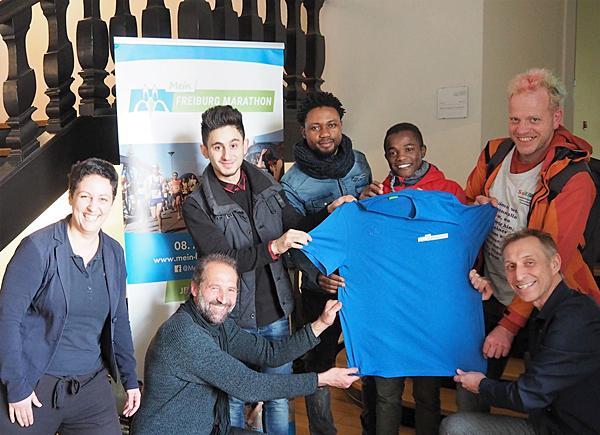 Ein Teil der Gewinner: Jasmin Ateia (Amt für Migration und Integration) und Thomas Arabin (FWTM).  Foto: Freiburg Wirtschaft Touristik und Messe GmbH & Co. KG