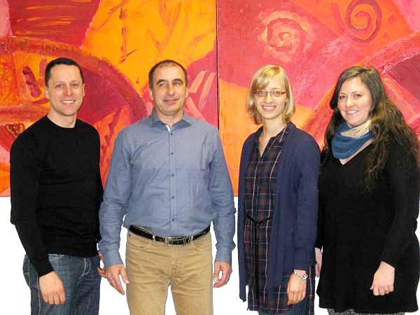 Der neue Kreisvorstand der ÖDP Freiburg von links: Sebastian Bernauer (Kreisschatzmeister), Ralf Preuß (Kreisvorsitzender), Britta Göggelmann  (Beisitzerin) und Teresa Klein (stellvertrende Kreisvorsitzende).