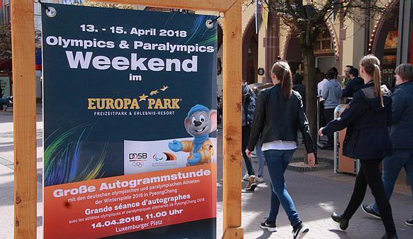 """Stars der Winterspiele im Europa-Park! Autogramme, Selfies, """"Silverstar-Fahrt und Park-Besuch   REGIOTRENDS-Foto: FSRM"""