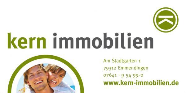 Kern Immobilien, Am Stadtgarten 1, 79312 Emmendingen, Tel. 07641/95499-0, Fax 07641/95499-29, info@kern-immobilien.de, www.kern-immobilien.de