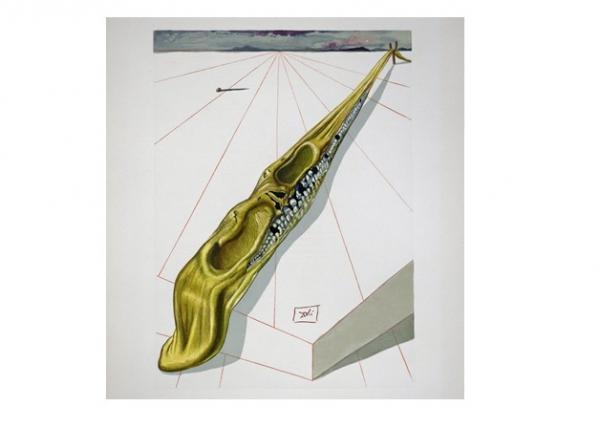 Salvador Dalí, Die Gotteslästerer, 1960, Holzschnitt, 33 x 22,6 cm ©messmer foundation