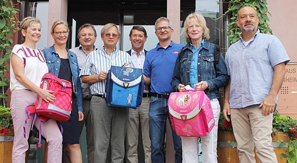 Von links: Karola Kirsten, Dr. Iris Möbes, Christian Machleid, Dr. Joachim Götz, Bürgermeister Bruno Metz, Christian Weber, Margot Hauswald, Steffen Ulbrich.  Foto: Stadt Ettenheim