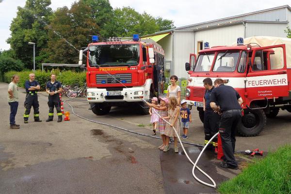 Feuerwehr war zu Gast in Schopfheimer Kindertagesstätte Hintermatt   Foto: Stadt Schopfheim
