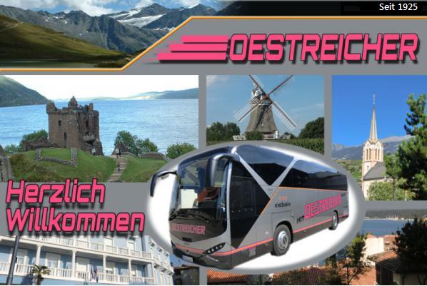 Busreisen Oestreicher, Hauptstr. 24, 79348 Freiamt-Ottoschwanden, Tel. 07645/913457, Fax 076445/8869, E-Mail: oestreisen@aol.com - www.oestreicher-reisen.de