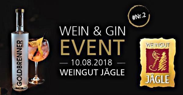 Freitag, 10. August 2018: Wein & Gin Event  Weingut Jägle, Balgerstraße 8, 79341 Kenzingen, Tel. 07644/4105, info@www.weingut-jaegle.de, www.weingut-jaegle.de