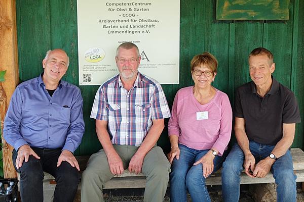 Von links: Landtagsabgeordneter Alexander Schoch, Vorsitzender Lothar Herb, Vorstandmitglied Brigitte Ehret und Schatzmeister Rolf Bock.