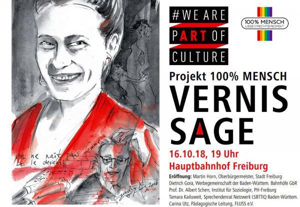 """16. bis 25. Oktober: Wanderausstellung """"We are part of culture"""" zum Thema Diversity auf dem Gelände des Freiburger Hauptbahnhofs   Foto: Stadt Freiburg"""