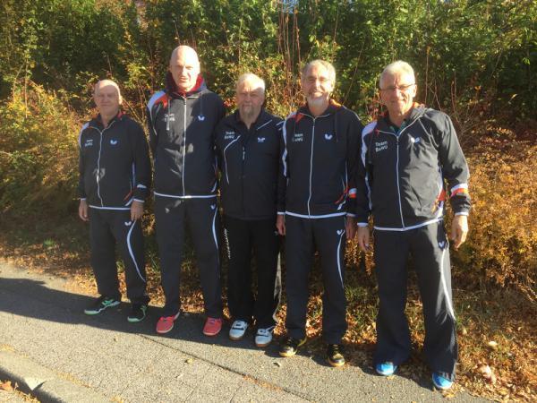 Tischtennisteam Baden-Württemberg (TTBW) Senioren 60 (Martin Frey vom TV Denzlingen zweiter von rechts).
