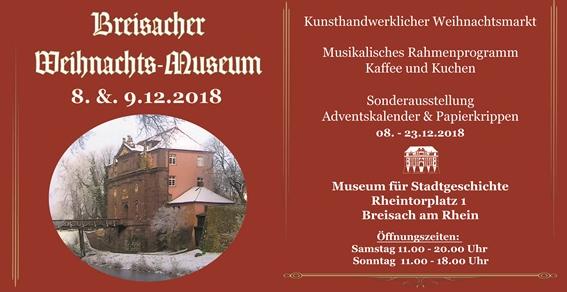 08./09. Dezember 2018: Kunsthandwerklicher Weihnachtsmarkt