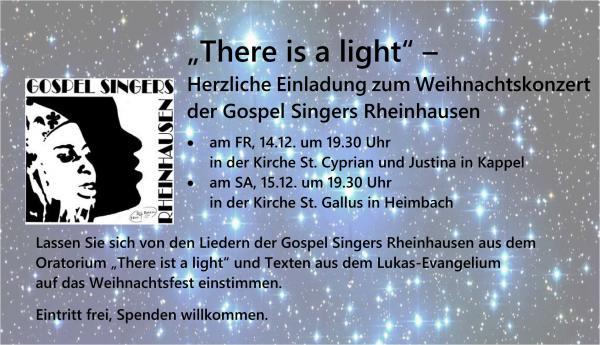 15. Dezember: Die Gospel Singers Rheinhausen stimmen in die Weihnachtszeit ein