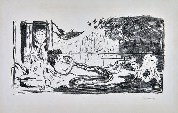 Ab 8. Dezember: Reise in den hohen Norden - Doppelausstellung in den Städtischen Museen Freiburg  Edvard Munch: Die Wolke  Foto: Lukas Spörl