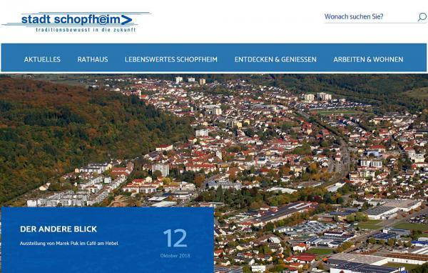 Neuer Internetauftritt der Stadt Schopfheim und ihrer Ortsteile  Foto: Stadt Schopfheim