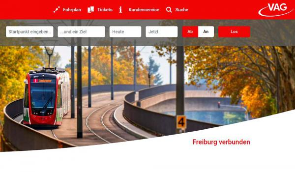 Freiburger Verkehrs AG mit neugestaltetem Internetauftritt   Foto: Freiburger Verkehrs AG