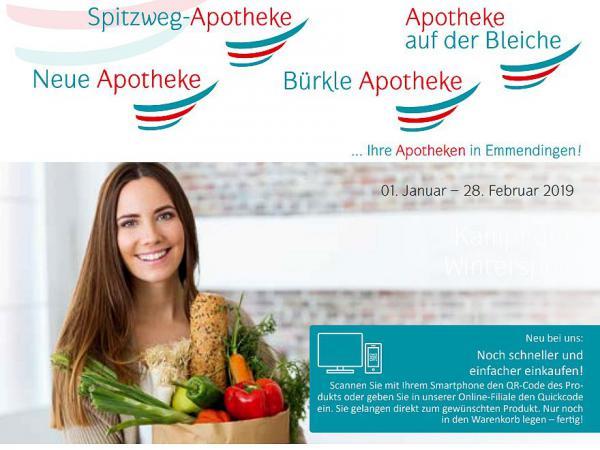 Angebote vom 1. Januar bis zum 28. Februar 2019: Rheuma – so unterstützen Sie den Körper >> Ihre Apotheken in Emmendingen: Neue Apotheke, Bürkle Apotheke, Apotheke auf der Bleiche, Spitzweg Apotheke