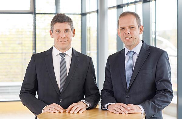 Vorstandsduo Marc Ullrich (links) und Jörg Straub.  Foto: Bauverein Breisgau eG Freiburg