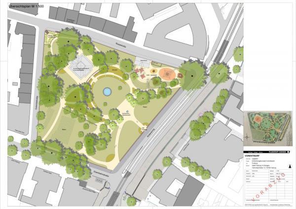 Stadt stellt Umgestaltungspläne für den Colombipark vor - Das ist der Plan, wie der Colombipark umgestaltet werden soll.