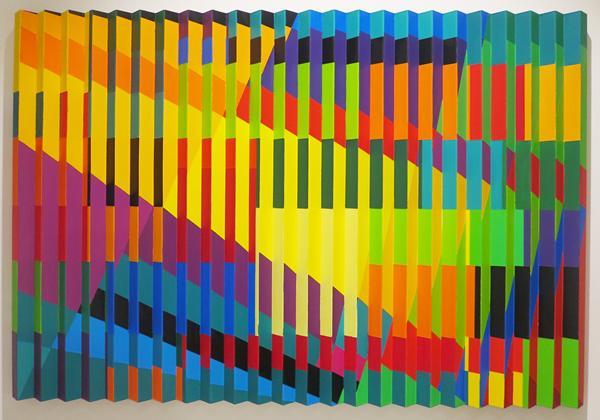 Marisa Ferreira, Urban Series I, Acryl auf Aluminium, 60 x 75 x 2,5 cm, 2014  © VG Bild-Kunst, Bonn 2019