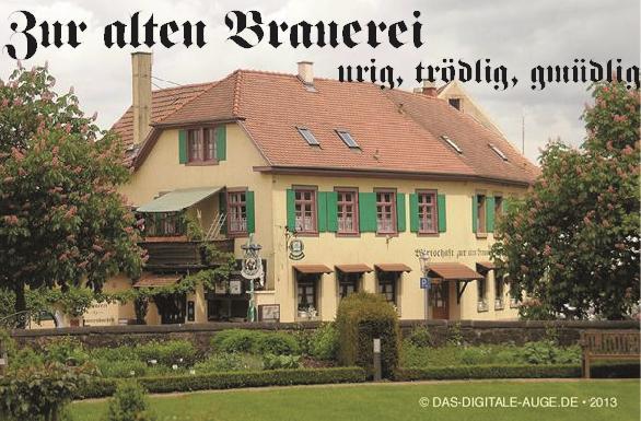 Gasthaus Zur Alten Brauerei | Freiburgerstr. 2, 77955 Ettenheim, Tel. 07822-448646