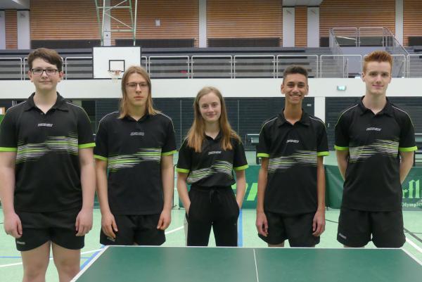 v.l.n.r.: Andreas Huber, Julian Baur, Klara Pfister, Aaron Bühler, David Schmidt